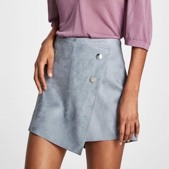 Zara Pants - ZARA faux suede skort in size medium